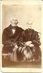 Carte de visite portrait of Martin and Elizabeth Bear by E. M. Recher (from a tintype)