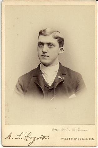 Cabinet card portrait of Paul William Kuhns by A. L. Rogers