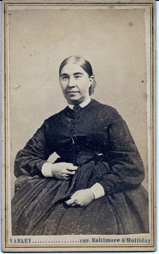 Carte de visite portrait of Mary Bayley Cressy