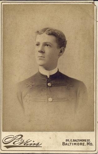 Cabinet card portrait of Malcolm Westcott Hill
