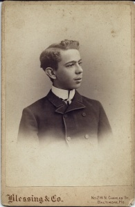 Cabinet card portait of Dr. George Douglass Rouse, DDS