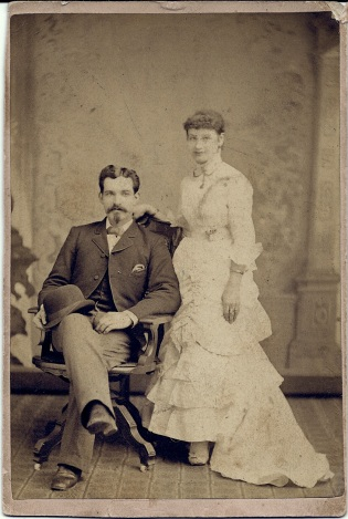 Portrait of David and Emily McAlpine by Darnell, Cumberland, Md.