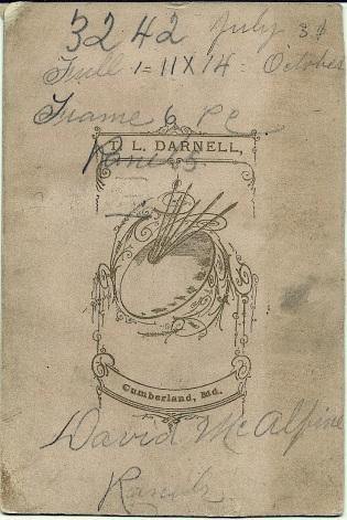 Reverse of Portrait of David and Emily McAlpine