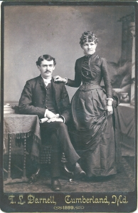 Unidentified McAlpine Couple by T. L. Darnell, Cumberland, Md.