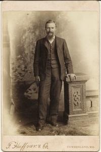 Unidentified McAlpine man by F. Haffner & Co., Cumberland, Md.