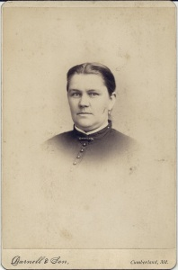 Unidentified McAlpine Woman by Darnell & Son, Cumberland, Md.