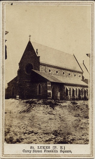 Carte de visite view of St. Luke's Episcopal Church, Baltimore,  by D. R. Stiltz