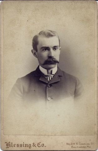 Cabinet card portrait of Julian Gartrell by Blessing & Co., Baltimore