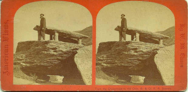 Stereoview of Jefferson Rock