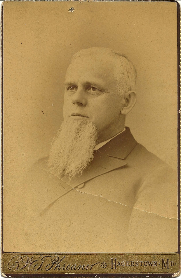 Cabinet card photograph of Rev. Cornelius L. Keedy by B. W. T. Phreaner, Hagerstown, Md.