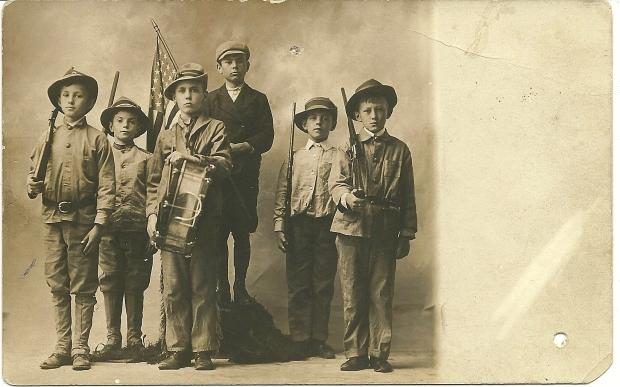 "RPPC of ""First Boys Scouts of Westminster, Md."