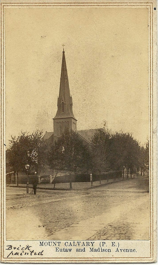 D. R. Stiltz carte de visite photograph of Mount Calvary Episcopal Church, Baltimore