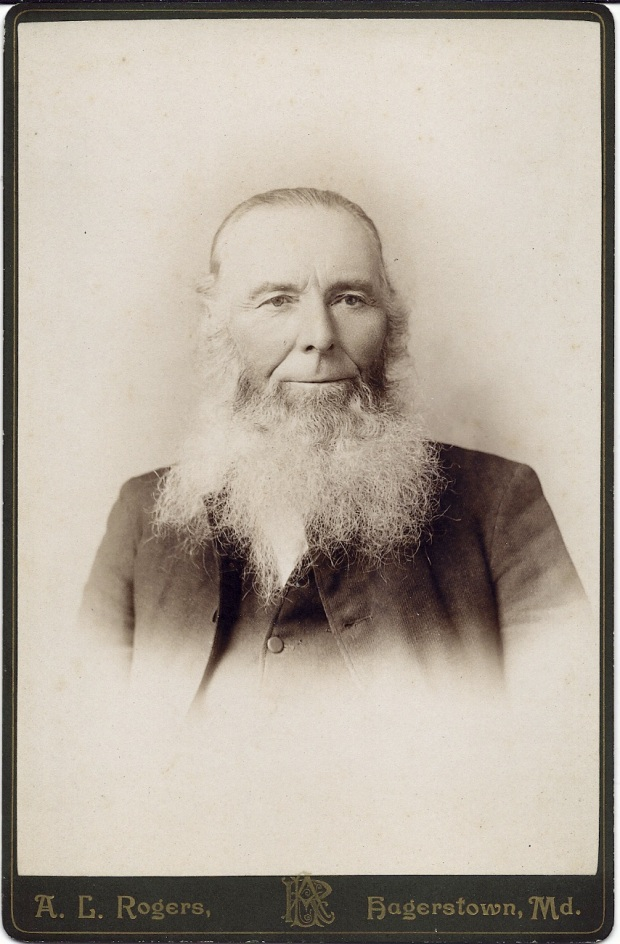 Cabinet card portrait of Rev. David Long
