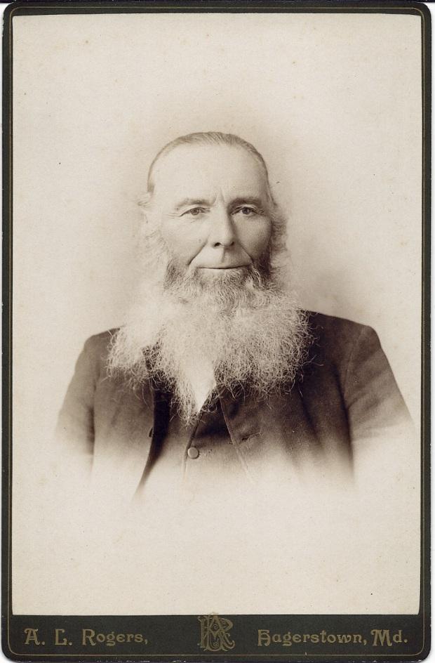 Cabinet card portrait of Rev. David Long